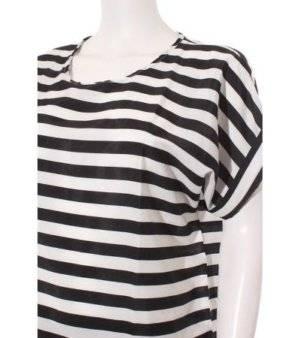 Blusa Mujer a Rayas en Negro y Blanco de Segunda Mano
