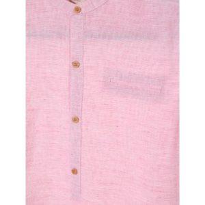 Camisa de Manga Corta Niño – Zara Boys de Lino en Rosa y Blanco de Segunda Mano