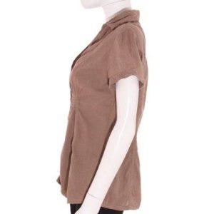 Camisa Mujer –  Bershka en Color Marrón Apagado de Segunda Mano