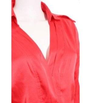 Camisa Mujer de Seda – Brunella en Color Rojo de Segunda Mano