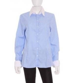 Camisa Mujer – Massimo Dutti a Rayas en Azul y Blanco de Segunda Mano