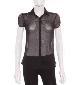 Camisa Mujer – Shana Semitransparente en Negro de Segunda Mano