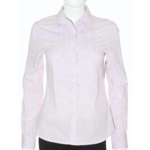 Camisa Mujer – Zara Basic a Rayas en Rosa y Blanco de Segunda Mano