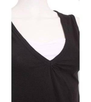 Camiseta Mujer – Infinity Woman Sin Mangas en Negro y Blanco de Segunda Mano