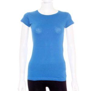 Camiseta Mujer – Lefties Básica en Azul de Segunda Mano