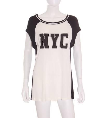 Camiseta Mujer – Mango en Blanco y Negro de Nueva York de Segunda Mano
