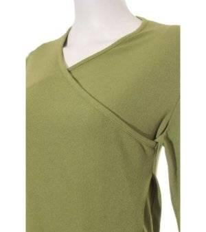 Camiseta Mujer – Ovadiche de Manga Larga en Verde Pistacho de Segunda Mano