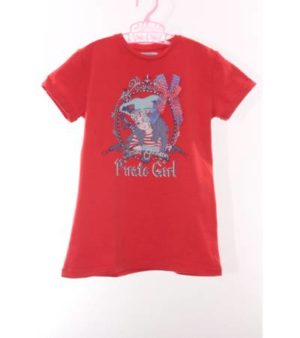 Camiseta Niña Color Rojo con Estampado – Freestyle de Segunda Mano