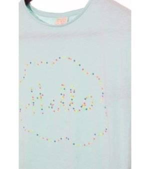 Camiseta Niña – Zara en Azul Cielo de Segunda Mano con Tachuelas