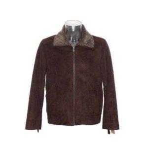 Chaqueta Hombre – Zara de Ante en Marrón con el Interior de Borrego