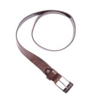 Cinturón Hombre – Chevignon Piel Autentica en Color Marrón Oscuro de Segunda Mano