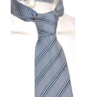 Corbata Hombre – Cerruti 1881 de Seda en Azul con Rayas de Segunda Mano