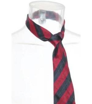 Corbata Hombre – JacKerTon a Rayas en Negro y Rojo Oscuro de Segunda Mano