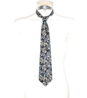 Corbata Hombre – Mercedes con Estampado de Elefantes de Segunda Mano