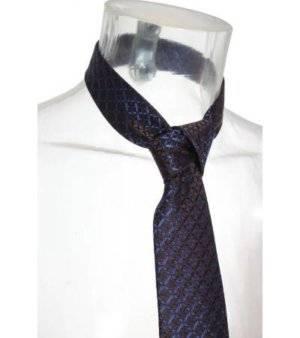Corbata Hombre – Toni di Testa en Marrón con Cruces en Azul de Segunda Mano