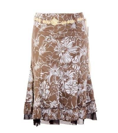 Falda Mujer - Li Belle Medio Larga de Estampado Hawaiano de Segunda Mano