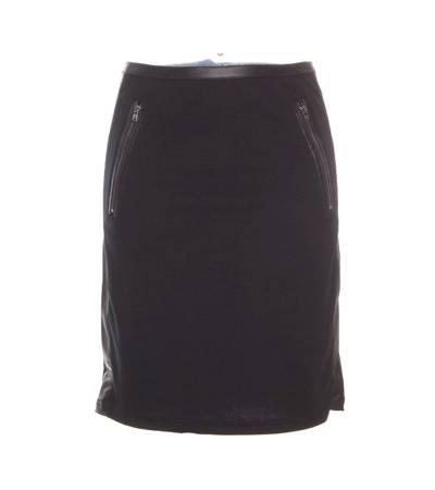 Falda Mujer – Peace & Love Ajustada en Negro con Detalles en Polipiel de Segunda Mano