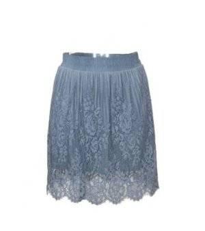 Falda Mujer – Vestto de Encaje en Azul Grisáceo de Segunda Mano