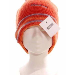 Gorro Mujer de Punto – Moschino en Naranja Rayas de Segunda Mano