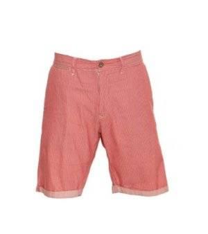 Pantalón Corto Hombre – Replay con Rayas en Blanco y Rojo de Segunda Mano