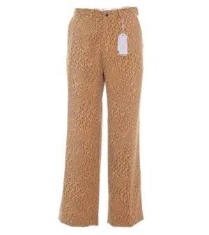 Pantalón Hombre – Francis Montesinos de Pana Marrón Estampado de Segunda Mano