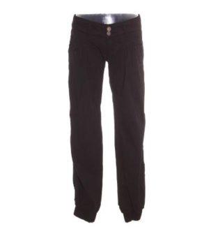 Pantalón Mujer – Retro Style en Negro Elástico en Bajos de Segunda Mano