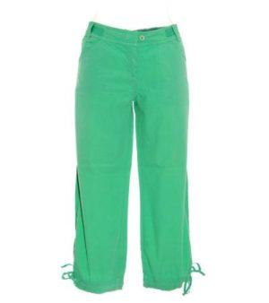 Pantalón Pirata Mujer – Peh en Color Verde Aguamar de Segunda Mano