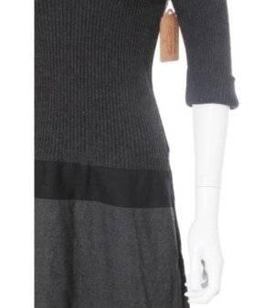Vestido Mujer – Alain Manoiquian de Punto en Gris Oscuro de Segunda Mano