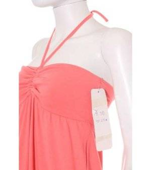 Vestido Mujer – Cache Cache Palabra de Honor en Rosa Coral de Segunda Mano
