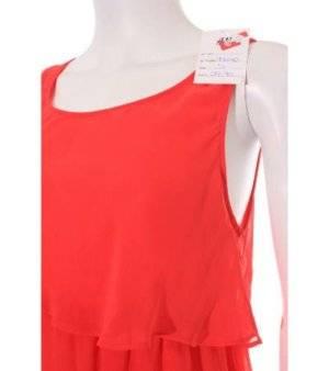 Vestido Mujer de Gasa – H&M en Rojo sin Mangas de Segunda Mano