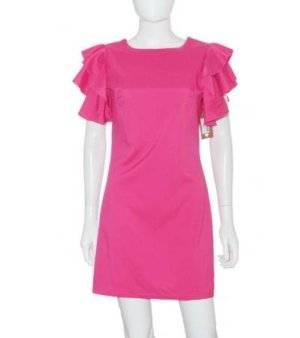Vestido Mujer en Rosa Chicle con Volantes de Segunda Mano