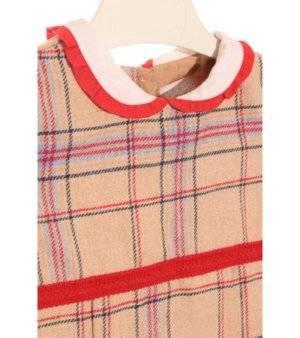 Vestido Niña – Dombi en Beige con Rayas de Segunda Mano