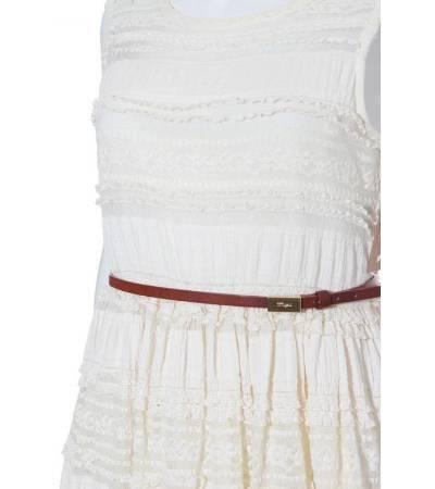 Vestido Niña – Mayoral de Encaje en Blanco Roto de Segunda