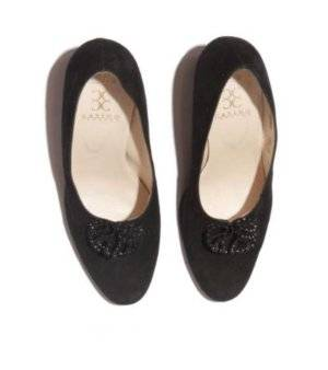 Zapatos Mujer – Platino de Ante en Negro de Segunda Mano