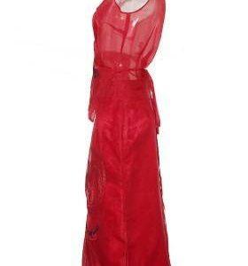 Conjunto Mujer – Adolfo Dominguez de Seda en Rojo de Segunda Mano