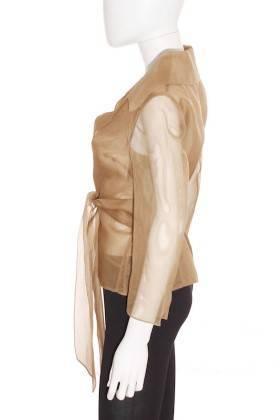 Chaqueta Semitransparente Mujer – Hoss de Seda en Verde Caqui de Segunda Mano