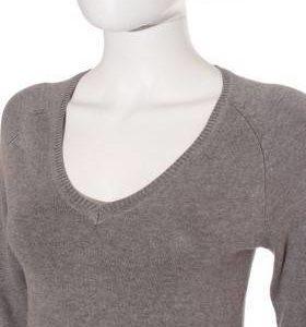 Jersey Mujer – Zara de Punto en Gris de Segunda Mano
