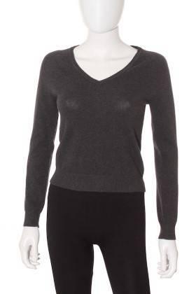 Jersey Mujer – Zara de Punto en Gris Oscuro de Segunda Mano