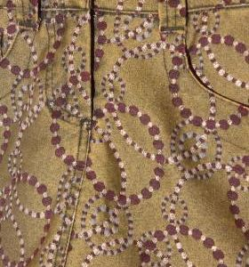Mini Falda Vaquera Mujer – Desigual en Verde Pistacho con Circulos de Segunda Mano