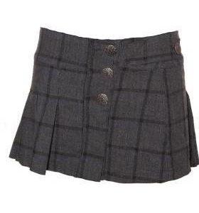 Mini Falda Mujer – TRF en Gris Oscuro con Cuadros de Segunda Mano