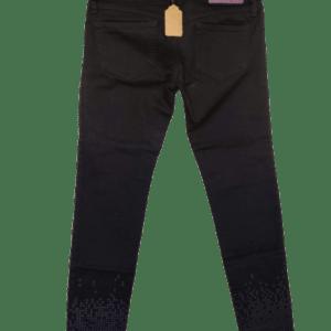 Diesel .Pantalón negro con estampado.
